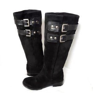Nine west leather tall boots size 5M